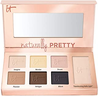 IT Cosmetics Naturally Pretty Essentials - Luxe Eyeshadow Palette - Travel Size - 6 Matte Shades & 1 Transforming Satin Sh...