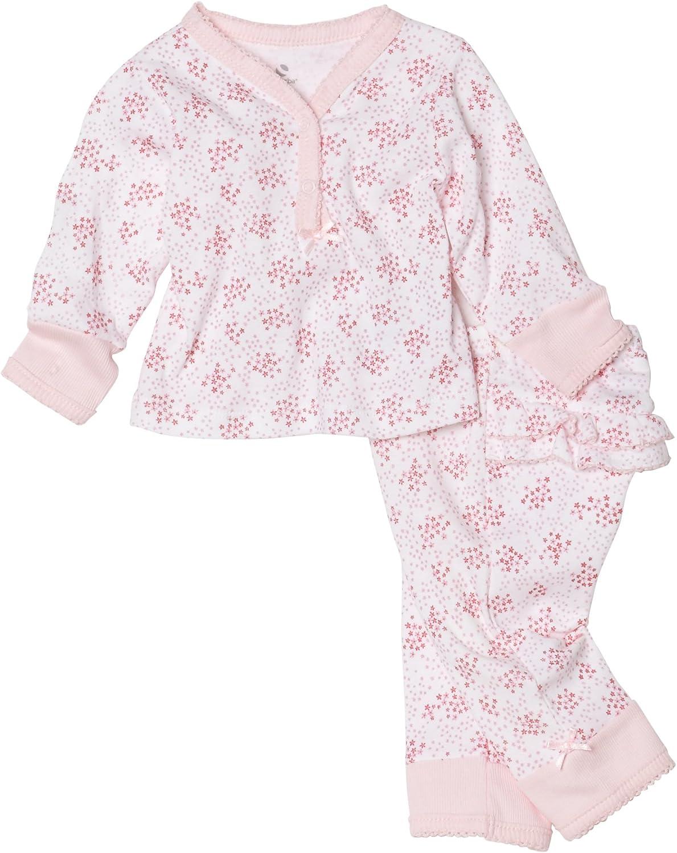 Absorba Newborn Baby Girls' Layette Loungewear 2 Piece Pant Set