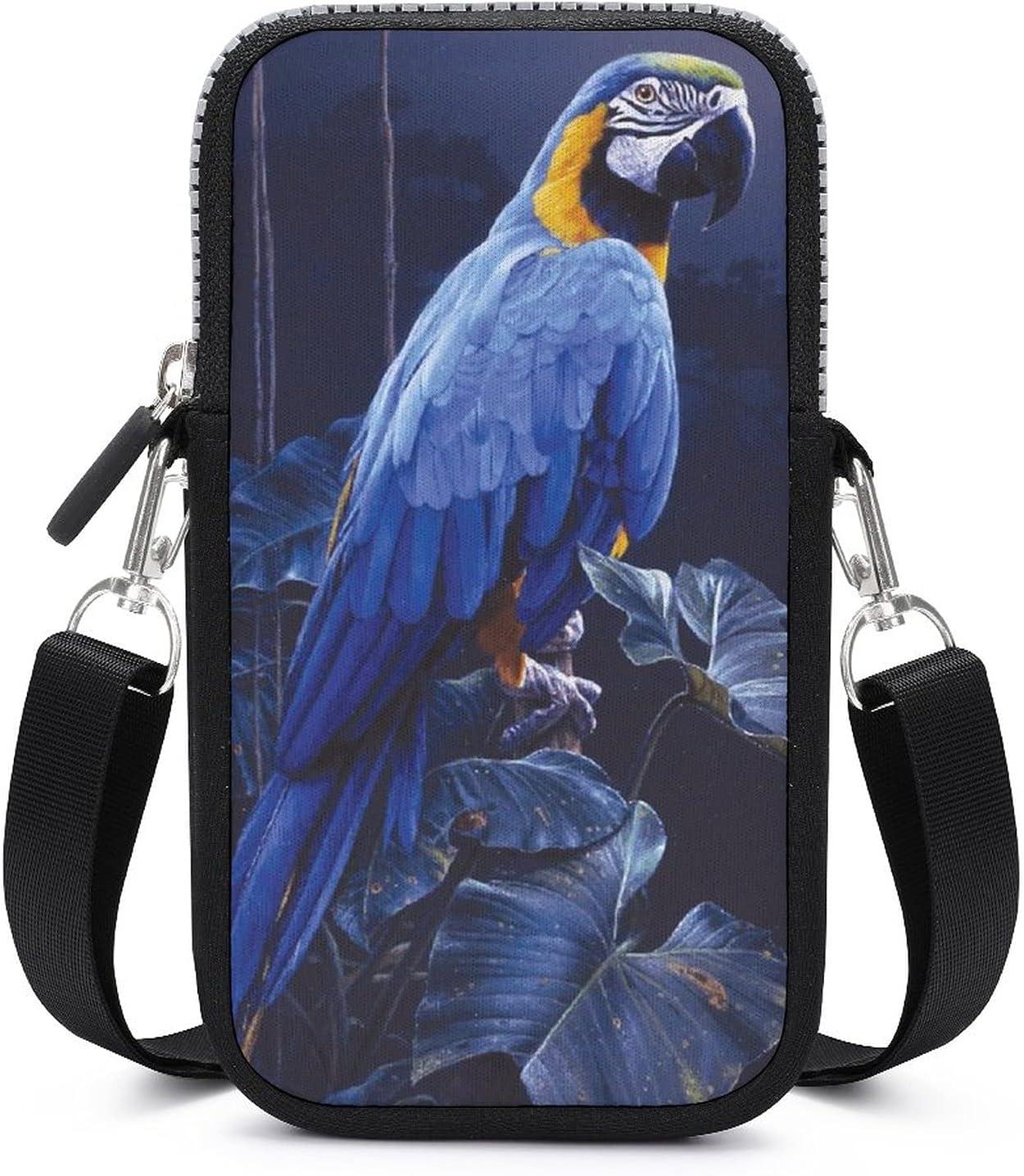 NiYoung Indefinitely Lovely Blue Parrot Rain Multipurpose Riding Handba Phone Bargain