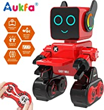 Aukfa Robot Toy for Kids, Smart RC Robot Kit with Touch & Sound Control Robotics, Intelligent Programmable Walking,Dancing,Singing,Talking,Transfering Items,Good Gift for Boys Girls (Red)