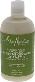 Shea Moisture Bamboo Extract & Maca Root Resilient Growth Shampoo for Unisex, 13 Ounce