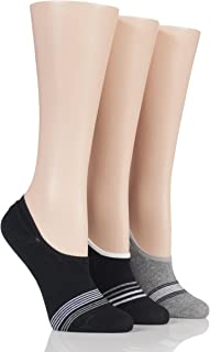 Mens 3 Pair SockShop Cotton Shoe Liner Socks Black 7-11