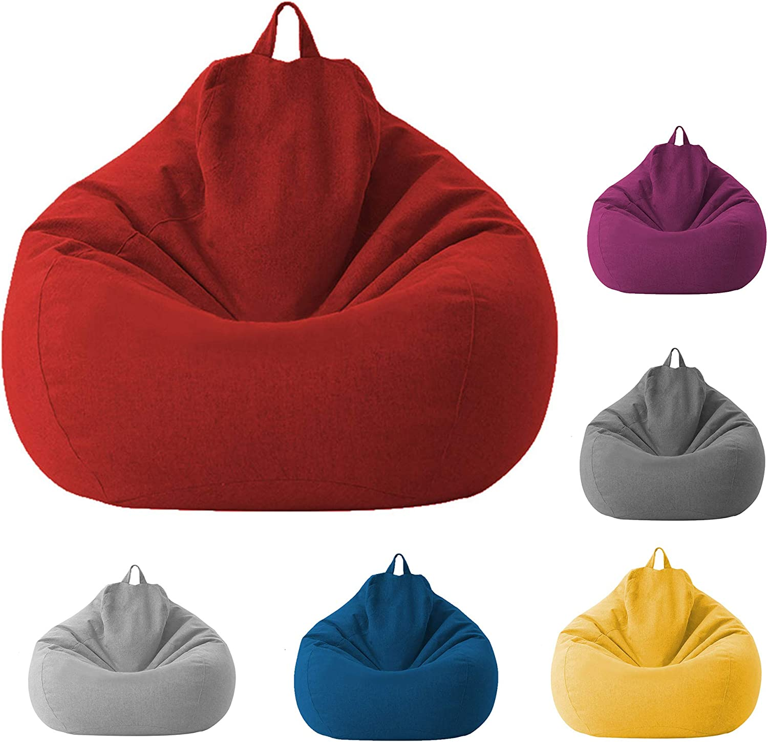 Bean Bag Chair Without Filling Max 86% OFF Clothes Zipper Stress Surprise price Puppy Relie