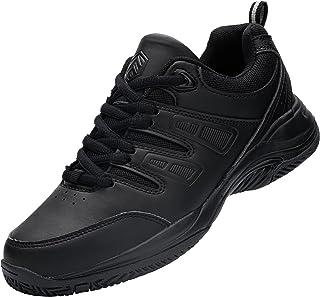URDAR Baskets Homme Femme Fitness Sport Sneakers Respirante Style Noir Blanc Chaussures de Sport