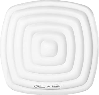 SHATCHI Energy Saving Spa Cover for Mspa Hot Tub Inflatable Jacuzzi Lid Protective Rain Overflow Heat Insulator Technology 4 People Square Bladder – 126 X 126Cm, White, 4Person