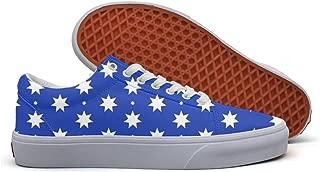 SERXO Australia Flags Skate Shoes Wide Width Women Canvas Sneakers Print