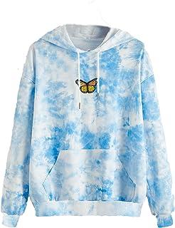 TOFOTL Damen Schmetterling Kapuzenpullover Pullover Pulli Ho
