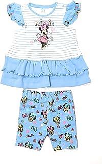 Conjunto Minnie Mouse Disney para bebés algodón - Pijama Minnie Mouse Disney Baby para niñas (Celeste, 6 Meses)