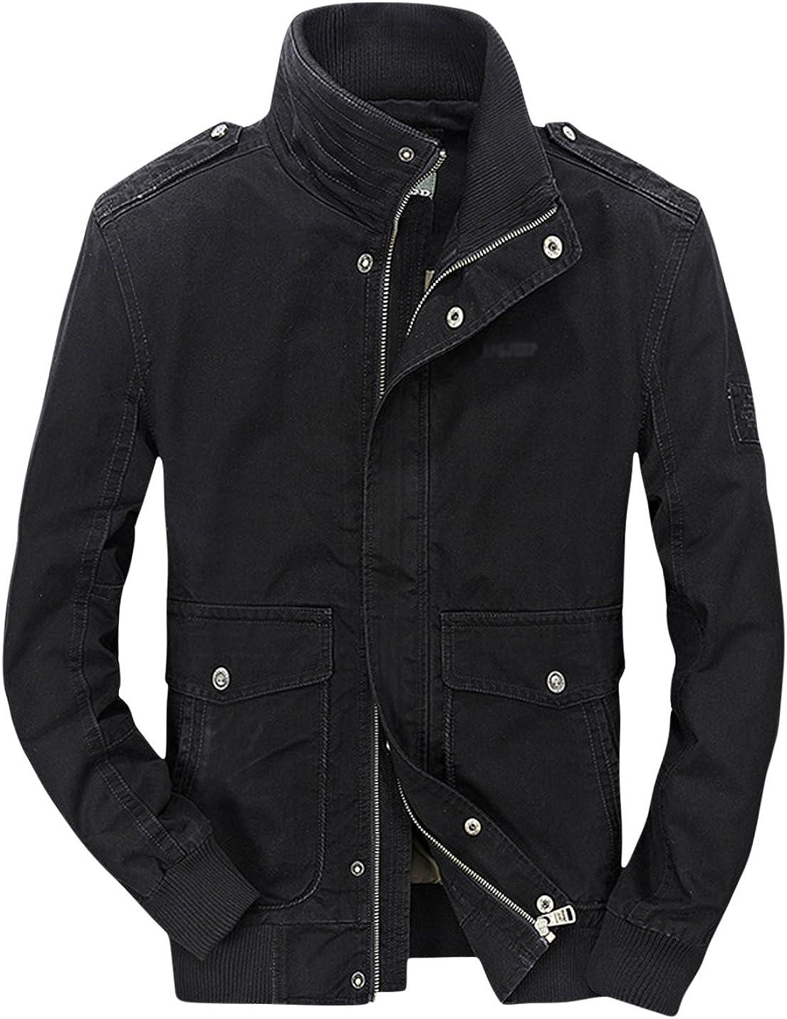 Max 77% OFF Springrain Men's Rib Stand Zipper Outerwear Pockets Max 41% OFF Cotton Solid