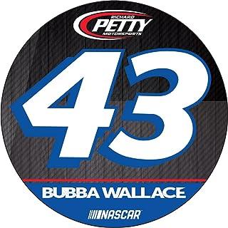 """Bubba Wallace #43 Nascar 4"""" Round Decal"""