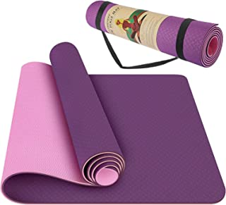 StillCool Yoga Mat - Classic 1/4 inch Pro Yoga Mat Eco Friendly Non Slip Fitness Exercise Mat with Carrying Bag - Workout ...