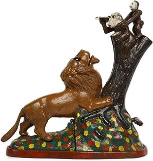 SafeDeals Antique / Vintage Style Cast Iron Mechanical Lion and 2 Monkey Money Box Money Bank Piggy Bank