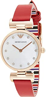 Emporio Armani Women's Mother Of Pearl Dial Leather Analog Watch - AR11291