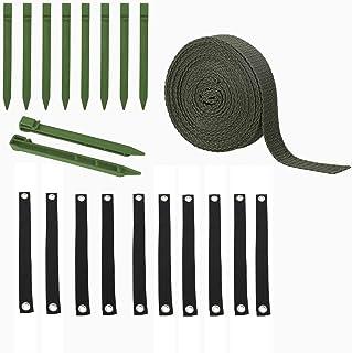 SLDHFE Sangles d'arbre, 43,2 cm en nylon, sangles de suspension pour arbre, balançoire, sangle avec piquets et corde pour ...