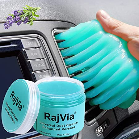 Rajvia Gel de Limpiador,Teclado Gel Universal de Limpieza de Polvo Limpiador de Bacterias de Suciedad para Computadoras, Ventilaciones de Automóviles, ...