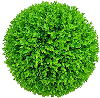 Simulation Garden Artificial Grass Ball - Topiary Plant Ball - Green Boxwood Ball Plastic Flower - Anti-UV - for Wedding Decor Indoor,40cm