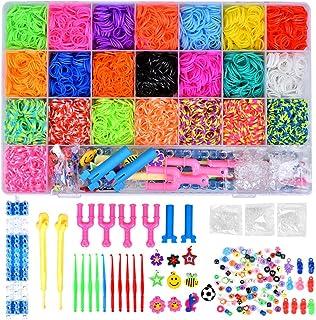 comprar comparacion Towinle Caja Pulseras Gomas 6800 Bandas de Silicona Para Hacer Pulseras De Colores Loom Kit para Pulseras