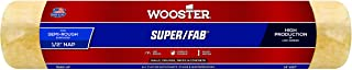 Wooster Brush R240-14 Super/Fab Paint Roller, 1/2 in Nap, 14 in L, Knit Fabric Cover, Polypropylene Core, 14 Inch