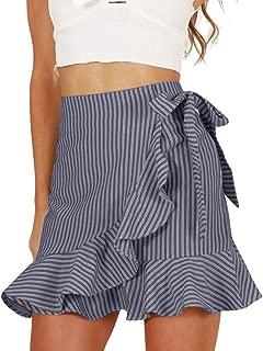 Skirts for Womens Elastic High Waisted Loose Skirt Tassel Stretch Bodycon Below Knee Skirt