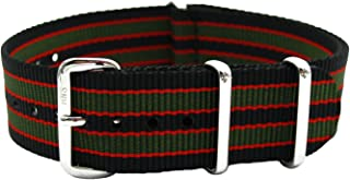 HNS Watch Bands - Choice of Color & Width (18mm,20mm, 22mm,24mm) - Ballistic Nylon RAF MATO Straps