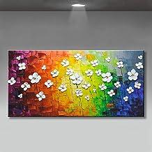 Handgeschilderd Olieverfschilderij - Abstract Modern 100% Handgeschilderde Olieverfschilderijen Kleur Achtergrond Bord Wit...