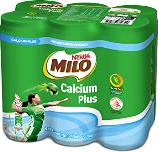 MILO Calcium Plus Can, 240ml (Pack of 6)