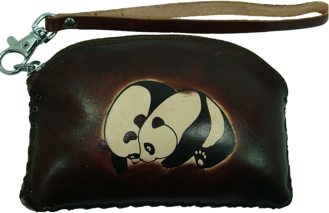 Real Leather San Max 57% OFF Antonio Mall Change Purse Approximate Pand Rectangle Darkbrown