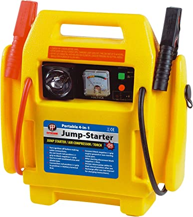 Fifth Gear  12V Portable Car Jump Starter Air Compressor Battery Start Booster Charger Leads