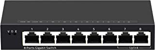 KuWFi Gigabit 8-Port Ethernet Switch Mini Desktop1000Mbps Fast Network Switch LAN Hub/Full or Half Duplex Exchange