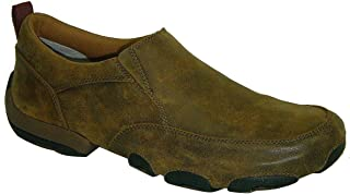 Men's Driving Slip-On Moccasin Shoes Round Toe Brown
