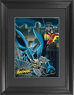 Batman & Robin 3D Poster Wall Art Decor Framed Print | 14.5x18.5 | Lenticular Posters & Pictures | Memorabilia Gifts for Guys & Girls Bedroom | DC Comic Book Classic Hero Movie Fan Picture & Artwork