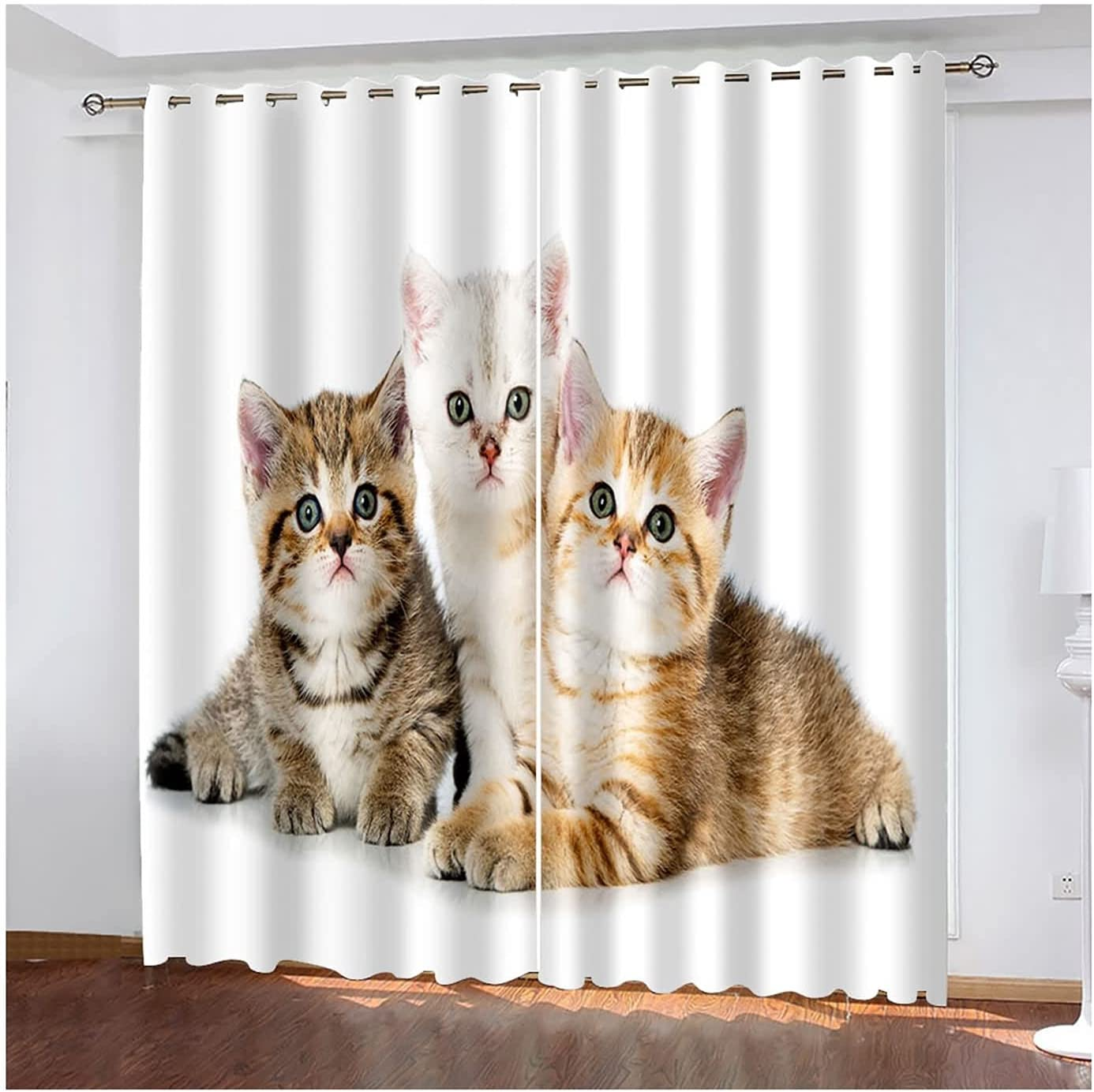 Blackout Drapes 2 Oakland Mall Panel Darkening Bedroom Super-cheap for Cat Cute Curtains
