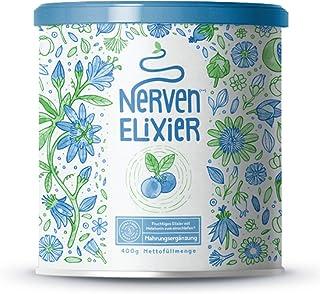 Alpha Foods Nerven-Elixier - Pflanzliche Wirkstoffe für den Abend - Fruchtige Mischung aus Aminosäuren und Pflanzenextrakten - 400 Gramm
