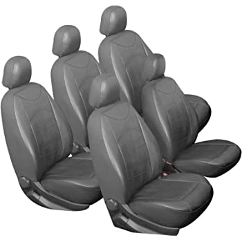 EUGAD 0037QCZT-5 5er Auto Sitzbez/üge Einzelbezug Schonbezug Sitzschoner Schwarz