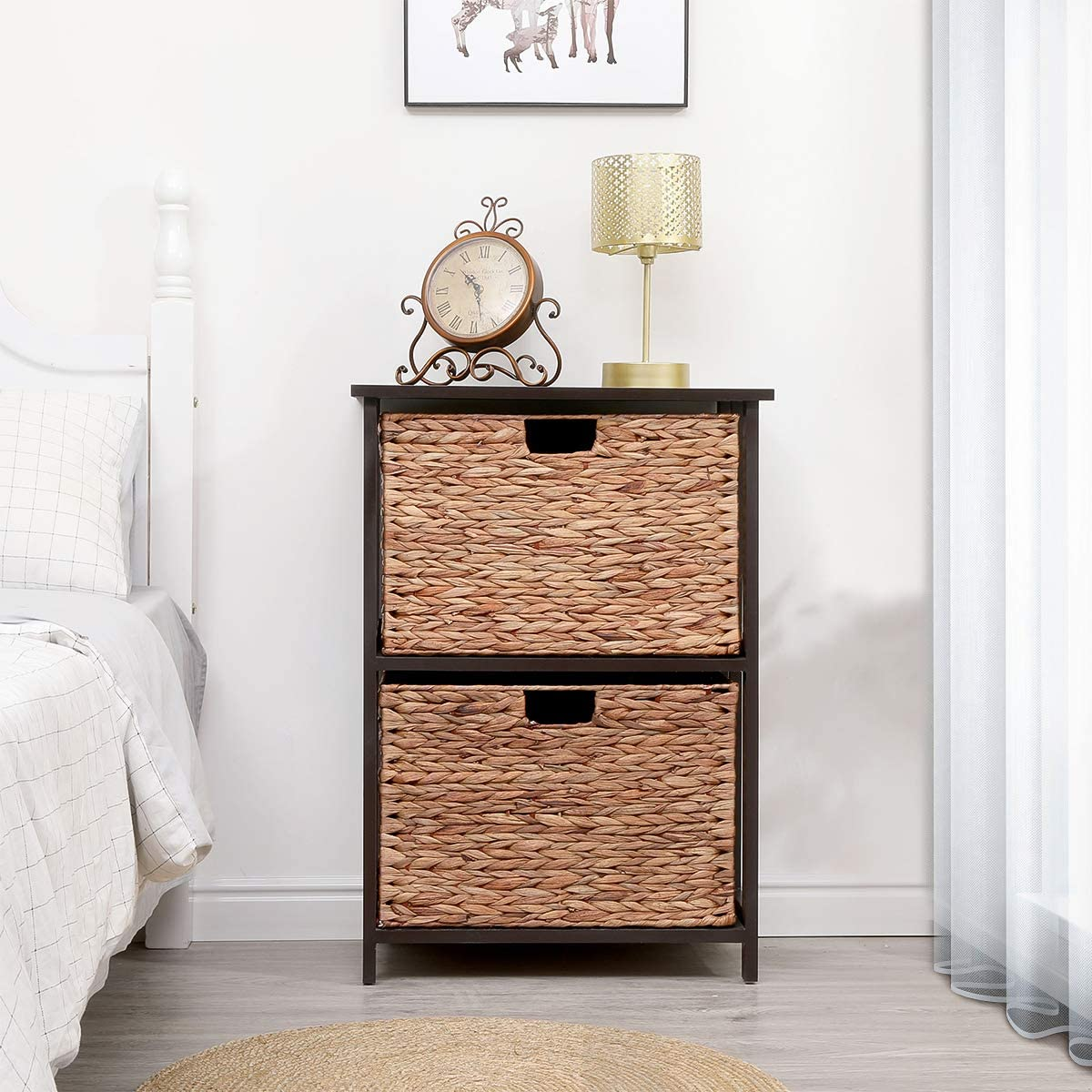 MELLCOM Storage Cabinet Retro Style with Complete Free Free shipping / New Shipping Dr Chest Wood 2