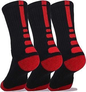 Elite Basketball Socks, Cushioned Athletic Crew Thick Socks For Men & Women