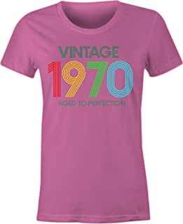 6TN Ladies Vintage 1970 Aged to Perfection T Shirt