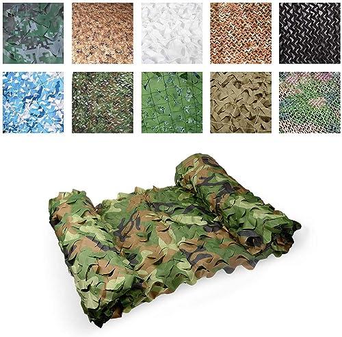 Auvent de terrasse Tissu Oxford Tente Filet Camouflage Filet Soleil D'ombre Approprié à La Chasse De DéguiseHommest De Peau Tirant Le Grand Jardin 3x5m Vert Filet de camouflage filet de prougeection solair
