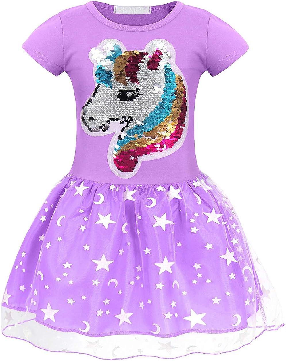 AmzBarley Vestido Princesa de Unicornio Fiesta Ni/ña Tutu para Cosply Cumplea/ños,Disfraz Tutu Princesa Unicornio Infantil Ni/ña /…