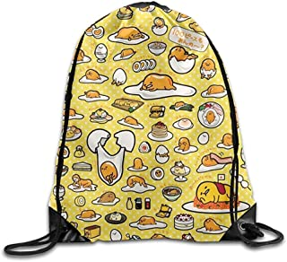 Gudetama Drawstring Gym ort Bag, Large Lightweight Gym Sackpack Backpack For Men And Women