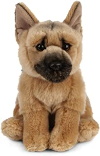 Living Nature Soft Toy - Plush Pet Animal, German Shepherd Dog (20cm) - Realistic Soft Toys with Educational Fact Tags