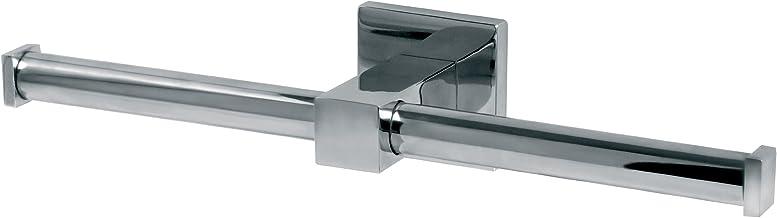 Bisk Forte Gamme Easy Fit Vis ou Colle pour Rouleau de Papier Toilette Aluminium et Acier Inoxydable 13.8/x 6/x 11.5/cm Chrome Zinc