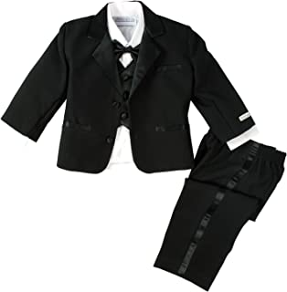Spring Notion Baby Boys' Black Classic Fit Tuxedo Set, No Tail