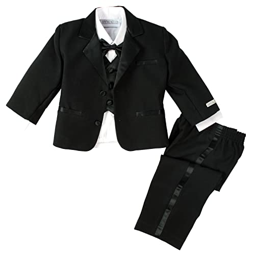 Classykidzshop Formal Black Tuxedo with Tail Cummerbund Bowtie Suit Baby - 20T