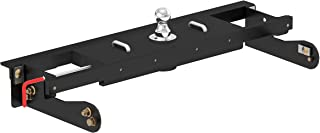 CURT 60680 Double Lock EZr Gooseneck Hitch, Flip-and-Store Black 30,000 lbs, Fits HD, HD 2-5/16-Inch Ball, Select Chevrolet Silverado, GMC Sierra 2500, 3500 HD