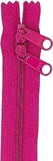 """Patterns ByAnnie Handbag Zipper 40in Crazy Plum-Double-Slide, 40"""""""