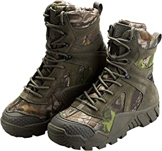 Outdoor Men's Tactical Military Boots Suede Leather Work Boots Combat Hunting Boots