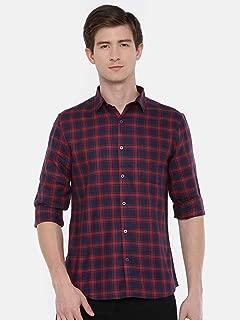 Chennis Men's Navy Blue Casual Shirt