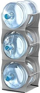 Baridoo Stackable Water Bottle Storage Rack Best Water Jugs 5 Gallon Organizer. Jug Holder for Kitchen, Cabinet and Office Organizing. Reinforced Polypropylene 3 Bottles Shelf