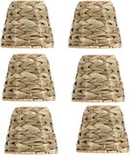 Upgradelights Sea Grass 6 Inch Retro Bell Clip On Chandelier Lamp Shades (Set of Six Shades) 4x6x4.5